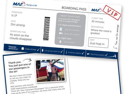 Plane Boarding Pass for Christian Worker image