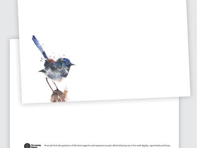 The Leprosy Mission Blue Wren Correspondence Card