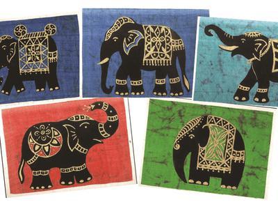 Batik Elephant Cards Assorted