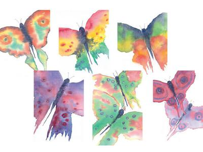 Watercolour Butterfly Cards